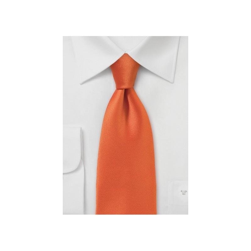 Bright Orange Sunset Necktie with Slimmer Cut