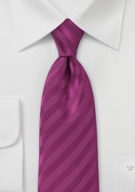 Narrow Solid Hued Sugar Plum Tie
