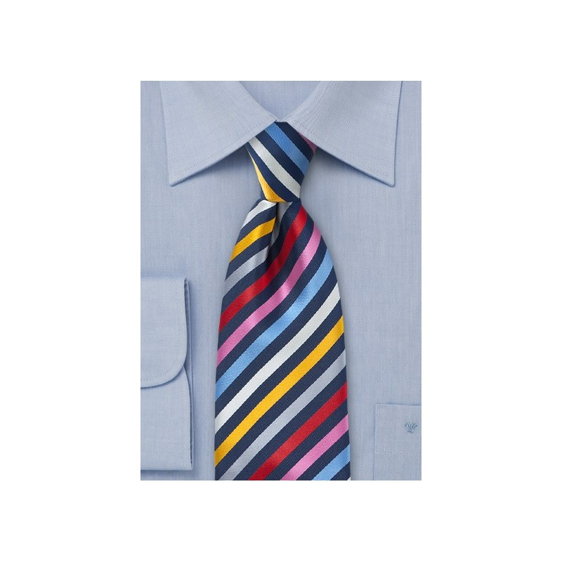 Multi Colored Necktie with Vibrant Stripes