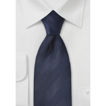 XL Striped Tie in Midnight Blue