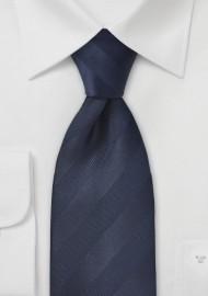 Striped Kids Tie in Midnight Blue