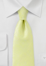 Chartreuse Necktie with Subtle Ice Colored Design