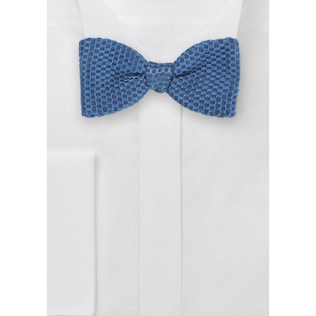 Textured Self-Tied Bow Tie in Teal