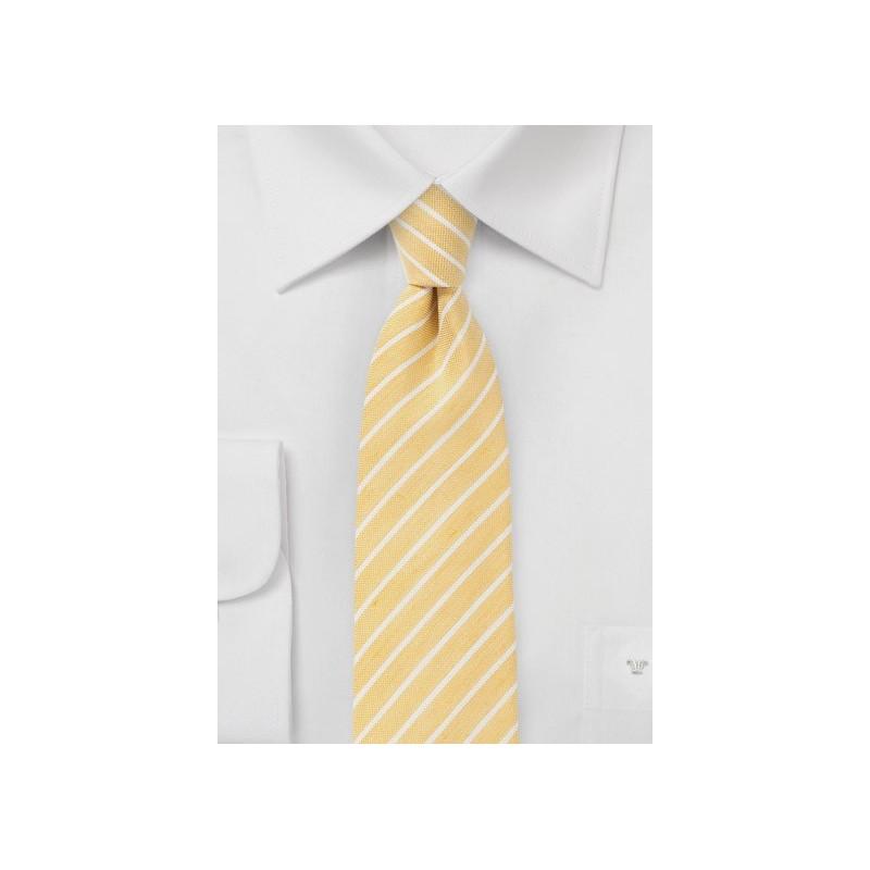Summer Yellow Skinny Tie