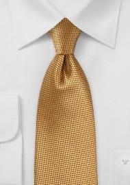 Gold Colored Silk Necktie
