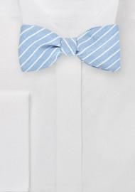 Pastel Blue Linen Bow Tie