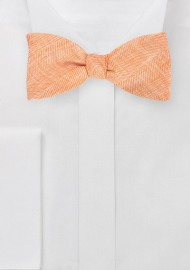 Self Tie Bow Tie in Vintage Tangerine