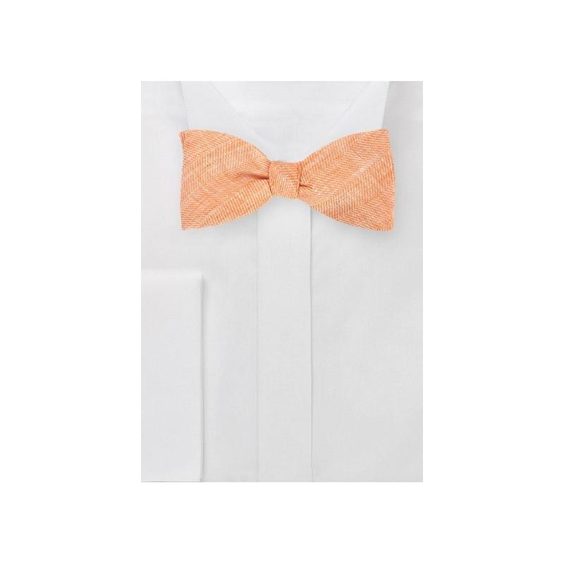 Self Tie Bow Tie in Vintage Tangerine