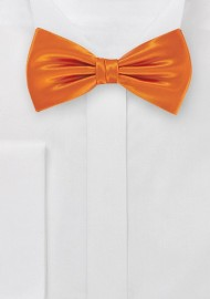 Electric Tangerine Pre-Tied Bowtie