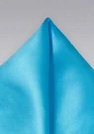 Mermaid Blue Handkerchief in Pure Silk