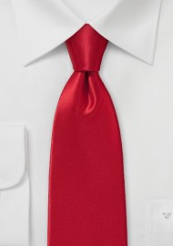 Rich Cherry Red Necktie in Silk