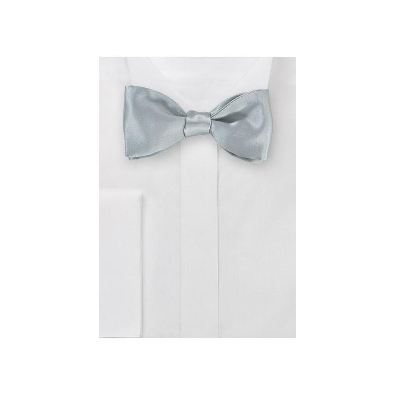 Steel Colored Self-Tie Bowtie in Silk