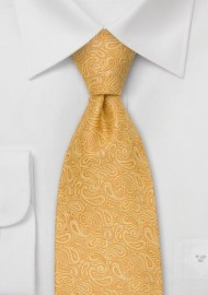 Modern Paisley Kids Tie in Yellow