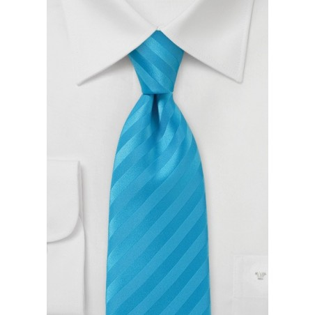 Monochromatic Striped Tie in Malibu Ble