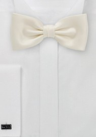 Solid Mens Bow Tie in Soft Cream