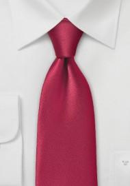 Pure Microfiber Cherry Colored Necktie