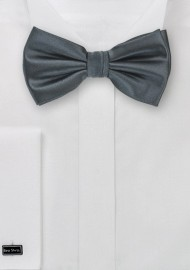 Pre-Tied Bow Tie in Smoke Gray Color