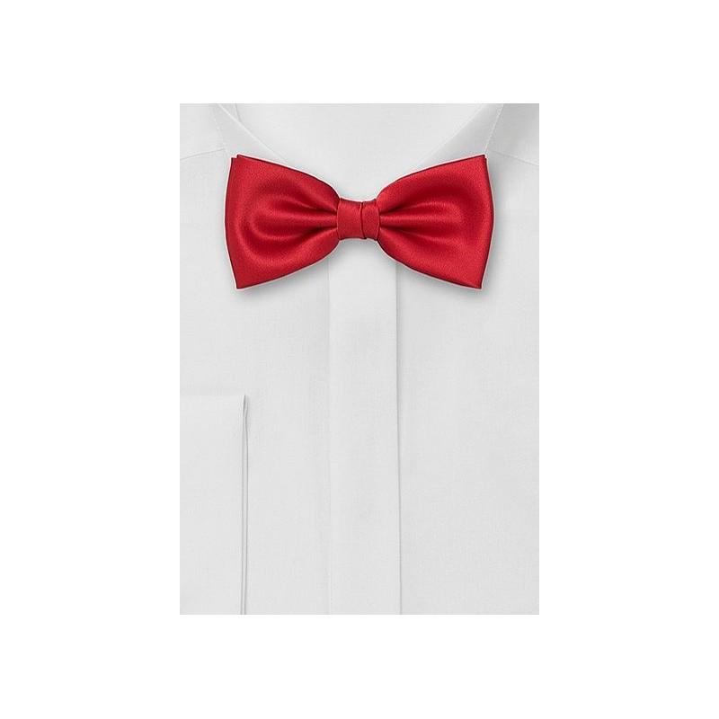 Pre-Tied Men's Bow Tie in Bright Red