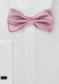 Solid Grayish Pink Bow Tie
