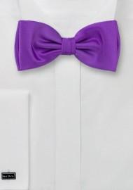 Solid Bright Purple Bow Tie