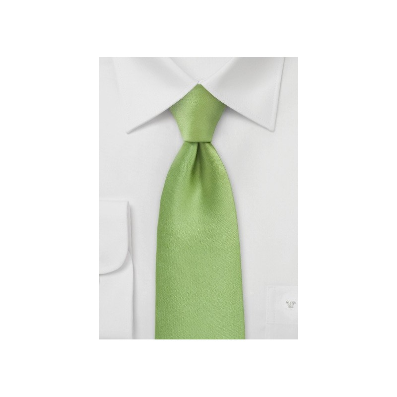 Lime Green Hued Tie in Solid Color
