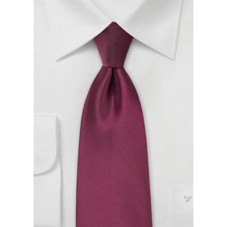 Claret Red Colored Men's Tie