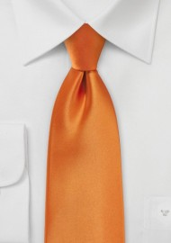 Tangerine Colored Necktie