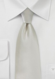 Frosted Silver Necktie