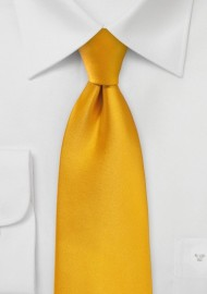 Men's Tie in Golden Saffron