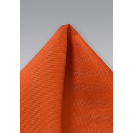 Persimmon-Orange Silk Pocket Square