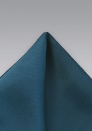 Turquoise Blue Silk Pocket Square