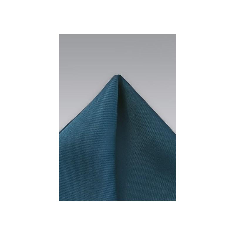Turquoise Blue Silk Pocket Square