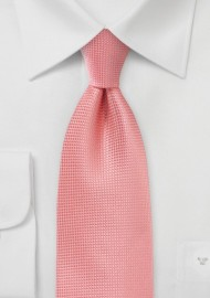 Extra Long Necktie in Coral Sorbet