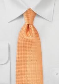 Textured Kids Tie in Tangerine