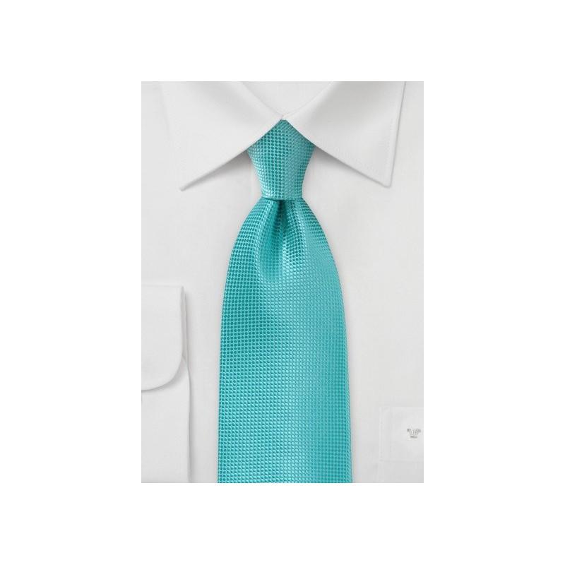 Extra Long Tie in Lagoon