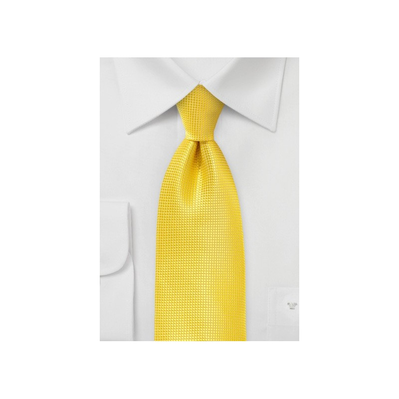 Xl Length Tie in Primary Yellow