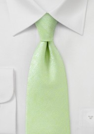 Heathered Texture XL Tie in Lime
