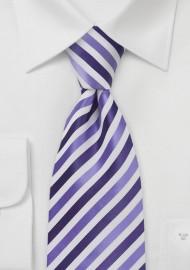 Striped Kids Length Tie in Purples
