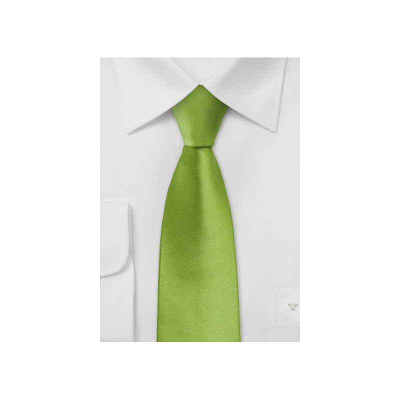 Lime Green Skinny Tie