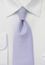 XL Length Ribbed Tie in Light Lavender