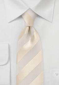 Ivory and Cream Striped Kids Necktie