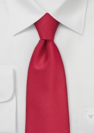 Grenadine Texture Kids Tie in Bright Red