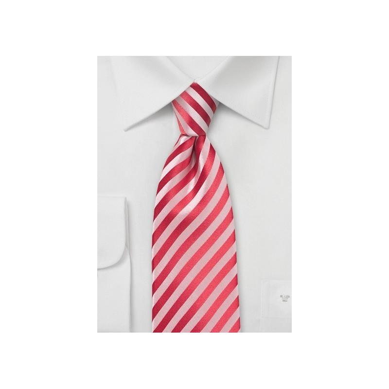 Striped Tie in Coral