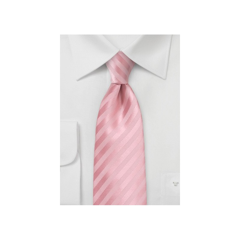 Summer Striped Tie in Peony Pink