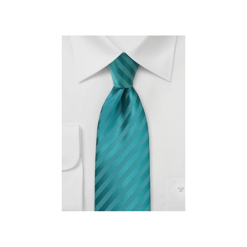 Bright Oasis Striped Necktie