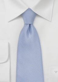 Extra Long Grenadine Textured Tie in Baby Blue