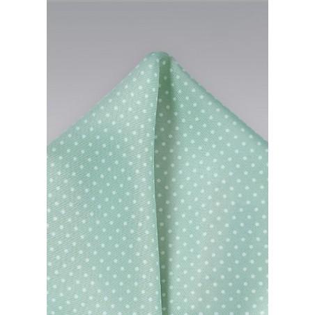 Mint Green Pin Dot Pocket Square