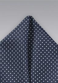 Midnight Blue Pin Dot Pocket Square