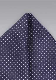 Pin Dot Pocket Square in Dark Amethyst