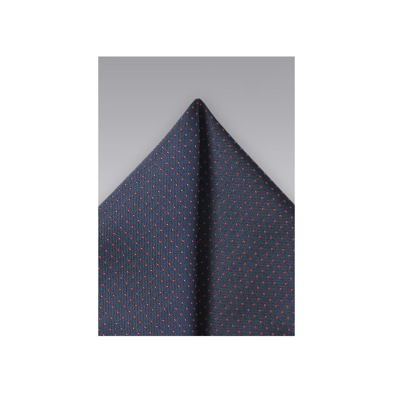 Navy and Coral Pocket Square